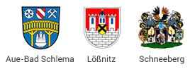 Aue-Bad Schlema, Lößnitz, Schneeberg
